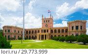 View of Palacio de los Lopez. Asuncion, Paraguay (2017 год). Стоковое фото, фотограф Яков Филимонов / Фотобанк Лори