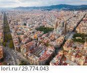 Купить «Aerial view of Barcelona», фото № 29774043, снято 19 ноября 2018 г. (c) Яков Филимонов / Фотобанк Лори