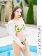Купить «Beautiful young brunette.», фото № 29778843, снято 1 июня 2016 г. (c) Сергей Сухоруков / Фотобанк Лори