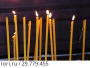 Крещенские свечи горят. Стоковое фото, фотограф Анатолий Матвейчук / Фотобанк Лори