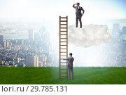 Купить «Concept of mentorship in business and career progression», фото № 29785131, снято 20 марта 2019 г. (c) Elnur / Фотобанк Лори
