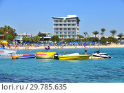 Ayia Napa, Cyprus - November 1. 2018. General view beautiful Makronissos Beach Resort. Редакционное фото, фотограф Володина Ольга / Фотобанк Лори