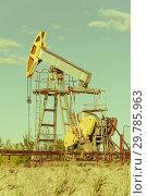 Купить «Oil pumpjack, industrial equipment. Extraction of oil. Petroleum concept.», фото № 29785963, снято 7 июля 2017 г. (c) bashta / Фотобанк Лори