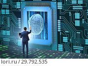 Купить «Cognitive computing concept as modern technology», фото № 29792535, снято 6 июня 2020 г. (c) Elnur / Фотобанк Лори