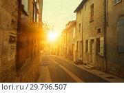 Купить «View of streets of the French town Bligny-sur-Ouche in France», фото № 29796507, снято 12 октября 2018 г. (c) Яков Филимонов / Фотобанк Лори