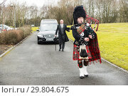 Купить «The Scots guards attend the funeral of 97 year old William McLelland a WW2 veteran who has died without family in North Lanarkshire. The service takes...», фото № 29804675, снято 8 февраля 2018 г. (c) age Fotostock / Фотобанк Лори