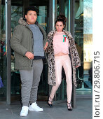 Купить «Katie Price leaves Portcullis House, with her mother Amy and son Harvey, after addressing a parliamentary sub-committee on on-line hate Featuring: Katie...», фото № 29806715, снято 6 февраля 2018 г. (c) age Fotostock / Фотобанк Лори