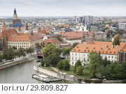 Купить «Wroclaw aerial view from the top of the cathedral Poland.», фото № 29809827, снято 27 сентября 2018 г. (c) age Fotostock / Фотобанк Лори