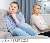 Купить «Daughter and mother after quarrel», фото № 29813227, снято 10 июля 2020 г. (c) Яков Филимонов / Фотобанк Лори
