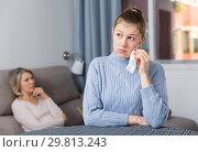 Купить «Silent resentment between mom and adult daughter», фото № 29813243, снято 23 марта 2019 г. (c) Яков Филимонов / Фотобанк Лори