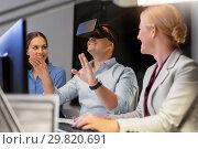 Купить «business team with computer working late at office», фото № 29820691, снято 6 декабря 2017 г. (c) Syda Productions / Фотобанк Лори