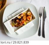 Купить «Pulpo a la Gallega (Galician octopus)», фото № 29821839, снято 28 ноября 2018 г. (c) Яков Филимонов / Фотобанк Лори