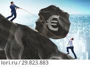 Купить «Trader trading in euro currency», фото № 29823883, снято 21 июля 2019 г. (c) Elnur / Фотобанк Лори