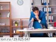Купить «Employee stealing important information in industrial espionage», фото № 29825047, снято 10 августа 2018 г. (c) Elnur / Фотобанк Лори