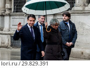 Купить «Arrival of the Italian Prime Minister Giuseppe Conte at the Head office of the Municipality of Milan ITALY-30-01-2019.», фото № 29829391, снято 30 января 2019 г. (c) age Fotostock / Фотобанк Лори