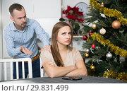 Купить «Couple quarreling on Christmas night», фото № 29831499, снято 15 января 2019 г. (c) Яков Филимонов / Фотобанк Лори