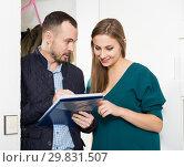 Купить «Caseworker conducting survey among population», фото № 29831507, снято 15 января 2019 г. (c) Яков Филимонов / Фотобанк Лори