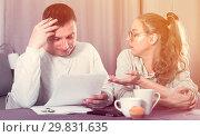 Купить «Couple struggling to pay bills», фото № 29831635, снято 18 марта 2017 г. (c) Яков Филимонов / Фотобанк Лори