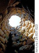 Купить «Nuraghe La Prisgiona archaeological site, dating from 1300 BC, near Arzachena, Sardinia, Italy, Europe», фото № 29837023, снято 20 июля 2019 г. (c) age Fotostock / Фотобанк Лори