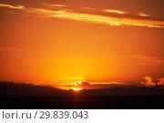 Sunset in Mongolian grassland in south-west Mongolia Govi-Altay province (2017 год). Стоковое фото, фотограф Serg Zastavkin / Фотобанк Лори
