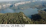 Купить «Scenic panoramic view from high point of Sau reservoir, Catalonia, at autumn day», видеоролик № 29848727, снято 16 ноября 2018 г. (c) Яков Филимонов / Фотобанк Лори