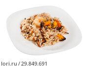 Купить «Rice with shrimps and mussels», фото № 29849691, снято 14 декабря 2018 г. (c) Яков Филимонов / Фотобанк Лори