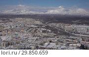 Купить «Петропавловск-Камчатский и вулканы», видеоролик № 29850659, снято 3 февраля 2019 г. (c) А. А. Пирагис / Фотобанк Лори
