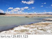 Купить «Солоноводное озеро Рулдан (Нак) на Тибетском нагорье летом. Китай», фото № 29851123, снято 11 июня 2018 г. (c) Овчинникова Ирина / Фотобанк Лори