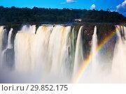 Купить «Garganta del Diablo waterfall on Iguazu River», фото № 29852175, снято 16 февраля 2017 г. (c) Яков Филимонов / Фотобанк Лори