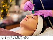 Купить «woman having microdermabrasion facial treatment», фото № 29874695, снято 26 января 2017 г. (c) Syda Productions / Фотобанк Лори