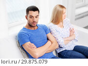 Купить «unhappy couple having argument at home», фото № 29875079, снято 9 февраля 2014 г. (c) Syda Productions / Фотобанк Лори
