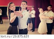 People dancing together slow ballroom dances. Стоковое фото, фотограф Яков Филимонов / Фотобанк Лори