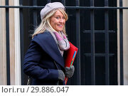 Купить «Ministers attend weekly cabinet meeting in Downing Street. Featuring: Esther Mcvey - Secretary of State for Work and Pensions Where: London, London, United Kingdom When: 16 Jan 2018 Credit: WENN.com», фото № 29886047, снято 16 января 2018 г. (c) age Fotostock / Фотобанк Лори