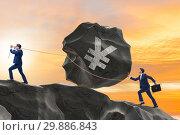 Businessman trading in japanese yen. Стоковое фото, фотограф Elnur / Фотобанк Лори