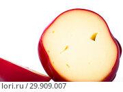 Купить «Твёрдый копчёный сыр ручной работы в парафиновой оболочке», фото № 29909007, снято 13 января 2019 г. (c) V.Ivantsov / Фотобанк Лори