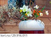 Купить «Икебана японская», фото № 29916011, снято 3 февраля 2018 г. (c) Татьяна Белова / Фотобанк Лори