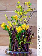 Купить «Японская икебана», фото № 29917175, снято 3 февраля 2018 г. (c) Татьяна Белова / Фотобанк Лори