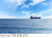 Купить «Commercial container ship on the high seas», фото № 29918211, снято 25 июля 2015 г. (c) Евгений Ткачёв / Фотобанк Лори