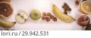Купить «Various types of fruits arranged on white background», фото № 29942531, снято 14 июля 2020 г. (c) Wavebreak Media / Фотобанк Лори