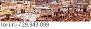 Кожаные дубильни и красильни Шуара. Фес. Марокко. (2013 год). Редакционное фото, фотограф Сергей Афанасьев / Фотобанк Лори