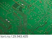 Купить «Printed circuit board. Computer technology background.», фото № 29943435, снято 13 апреля 2018 г. (c) Мельников Дмитрий / Фотобанк Лори
