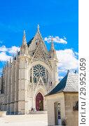 Europe, France, Vincennes, Chateau de Vincennes, The Sainte Chapelle (2018 год). Редакционное фото, фотограф Николай Коржов / Фотобанк Лори