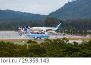 Купить «Takeoffs and landings», фото № 29959143, снято 29 ноября 2016 г. (c) Игорь Жоров / Фотобанк Лори