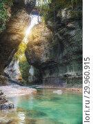 Купить «Martvili canyon in Georgia», фото № 29960915, снято 29 сентября 2018 г. (c) Юлия Бабкина / Фотобанк Лори