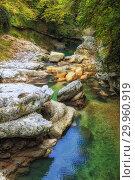 Купить «Natural Martvili canyon, Georgia», фото № 29960919, снято 29 сентября 2018 г. (c) Юлия Бабкина / Фотобанк Лори
