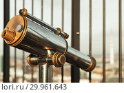 Купить «Touristic vintage paid telescope», фото № 29961643, снято 30 ноября 2018 г. (c) EugeneSergeev / Фотобанк Лори