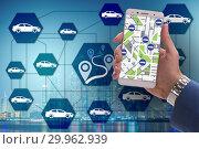 Concept of car ordering online. Стоковое фото, фотограф Elnur / Фотобанк Лори