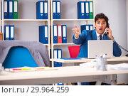 Купить «Employee stealing important information in industrial espionage», фото № 29964259, снято 10 августа 2018 г. (c) Elnur / Фотобанк Лори