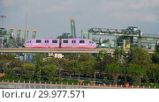 Купить «Monorail train to Sentosa island», видеоролик № 29977571, снято 24 ноября 2018 г. (c) Игорь Жоров / Фотобанк Лори