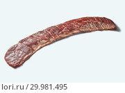 Купить «Raw beef bavette steak fore roasting isolated on a white background, copy space.», фото № 29981495, снято 21 января 2019 г. (c) Ярослав Данильченко / Фотобанк Лори